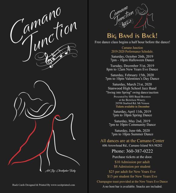 Forte's Camano Junction Rackcard 2019-2020